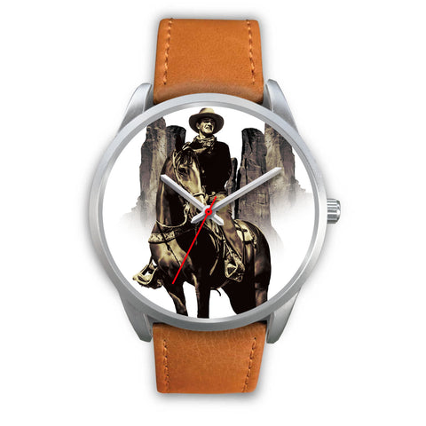 John Wayne Quality Silver Watch - Custom Design