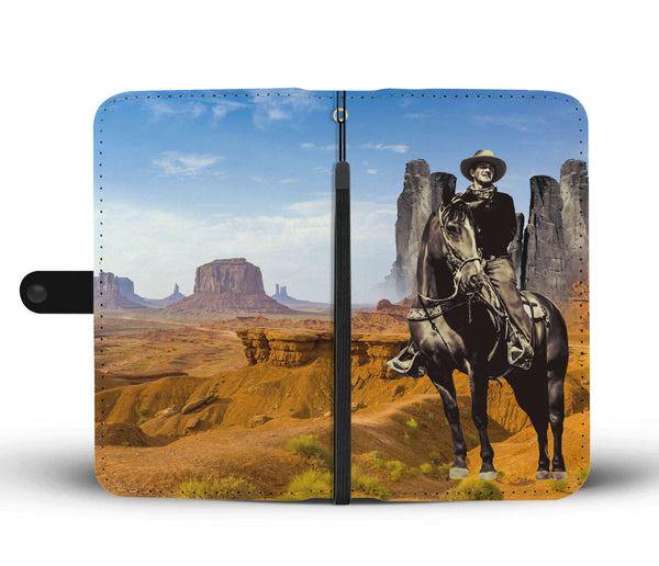 John Wayne Phone Wallet Case in Monument Valley