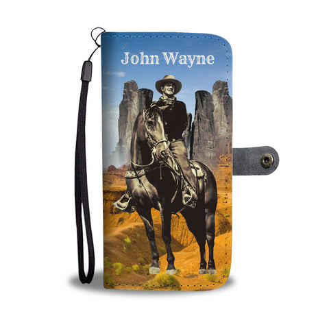 John Wayne Phone Wallet Case Monument Valley