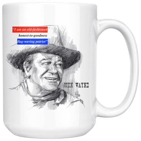 John Wayne 15oz Ceramic Mug - The Patriot