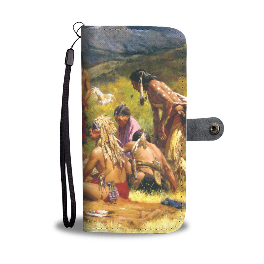 Beautiful Native American Wild West Scene Phone Wallet Case