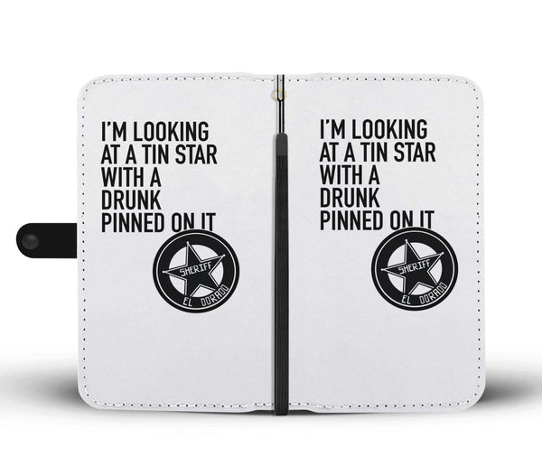 Quality Wallet Phone Case - Tin Star John Wayne Quote