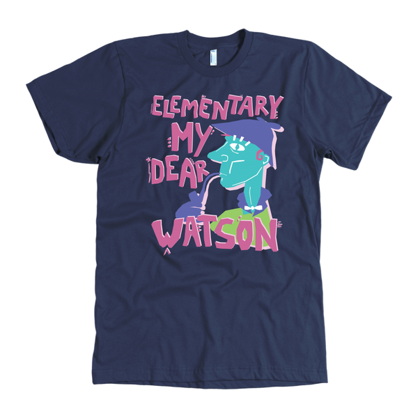 "Quality U.S. Made T Shirt ""Elementary My Dear Watson"" Movie Classic"