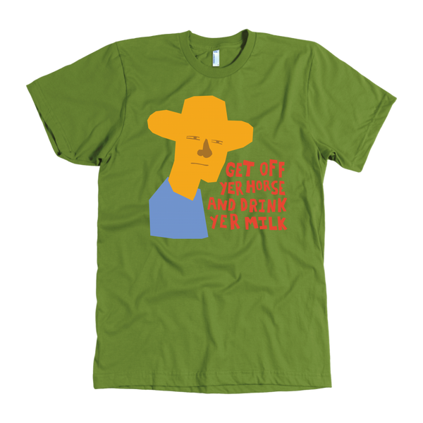 "John Wayne Made in USA T-Shirt ""Get off yer horse"""