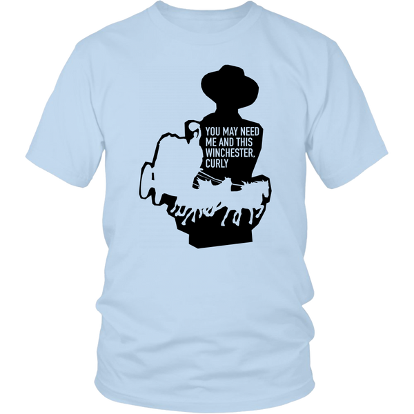 "John Wayne Made in USA T-Shirt ""You may need me and this Winchester Curly"""