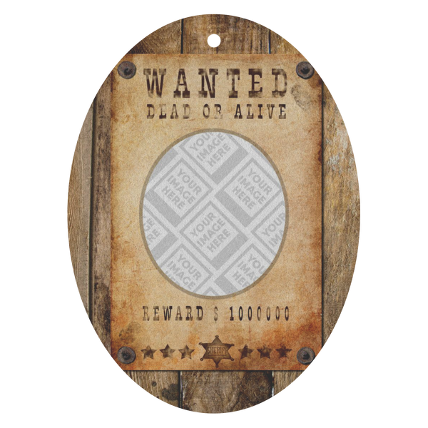 "Personalized ""Wanted Dead or Alive"" Air Freshener"