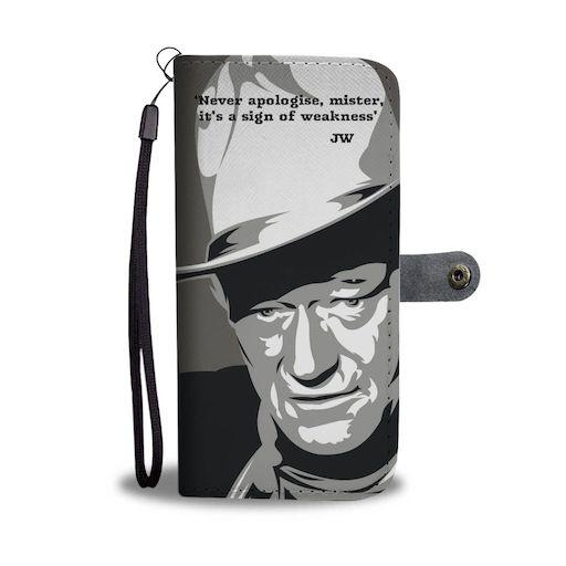 john wayne western inspired wallet phone cases