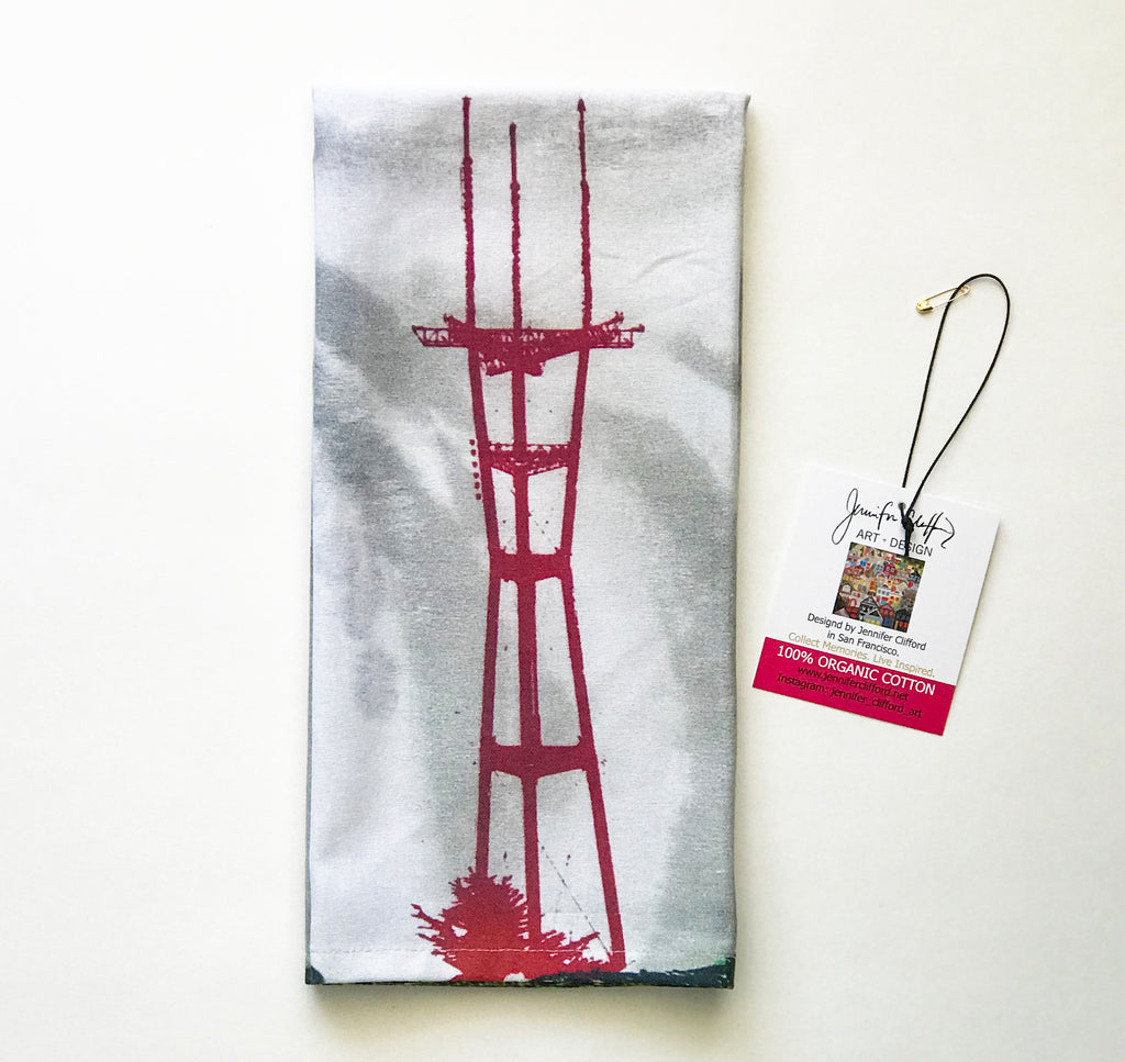 Sutro Tower Dish Towel