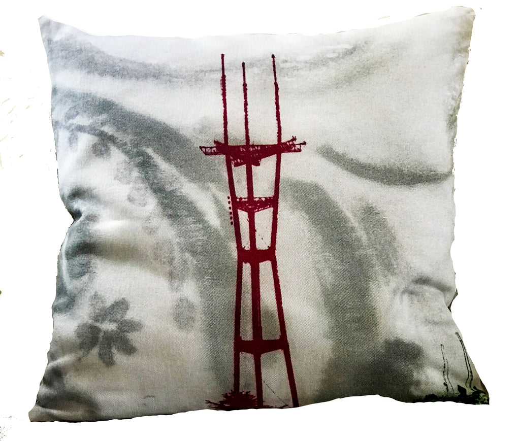 Sutro Tower Pillow Cover