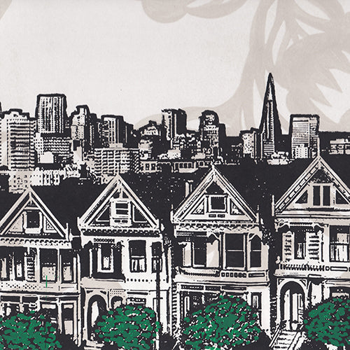 Black and White Painted Ladies