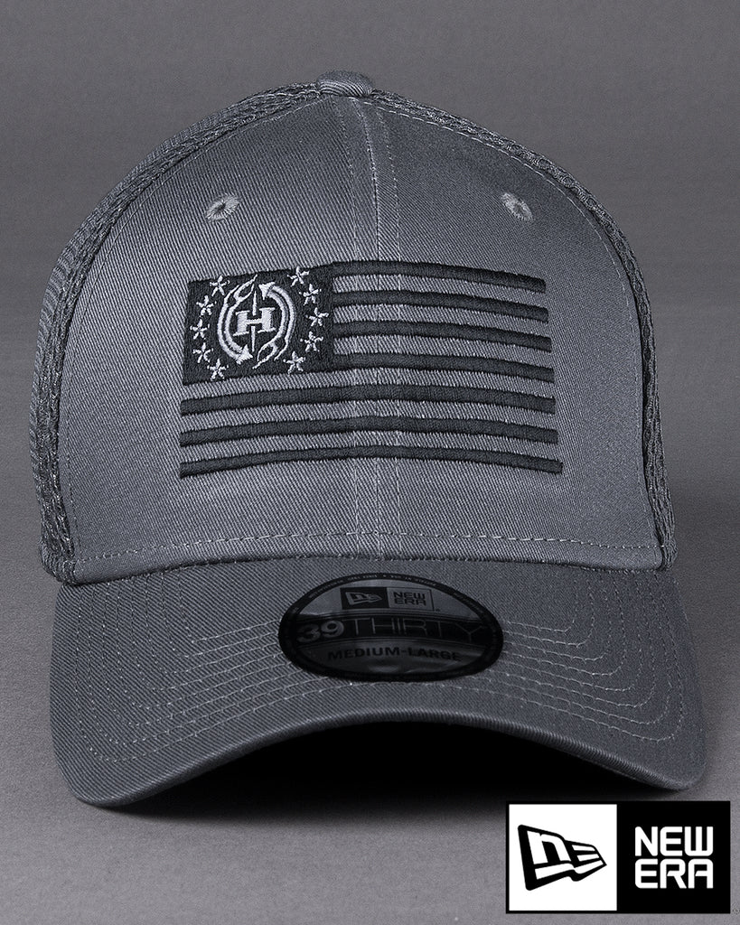 H76 USA Flag on New Era Stretch Mesh