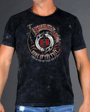 Home of the Free Because of the Brave Mineral Washed T