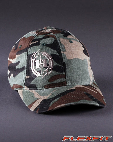 Ballcaps - H2 Logo On Camo Flexfit