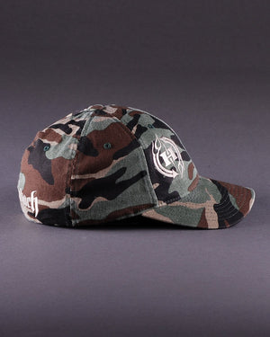 H2 Logo on Camo Flexfit Low 3.25