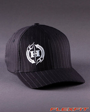 Ballcaps - H2 Logo On Pinstripe Flexfit