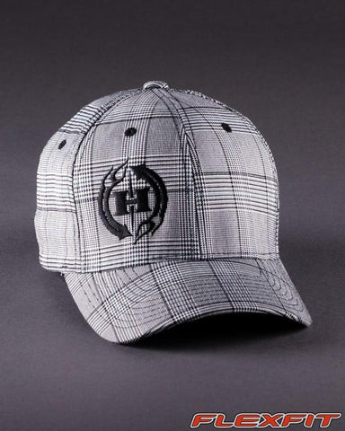 Ballcaps - H2 Logo On Plaid Glen Check Flexfit