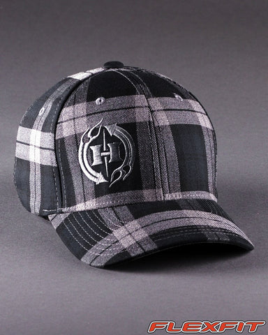 Image of Ballcaps - H2 Logo On Tartan Plaid Flexfit