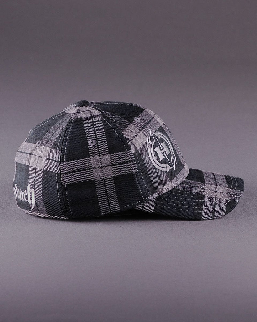 Ballcaps - H2 Logo On Tartan Plaid Flexfit