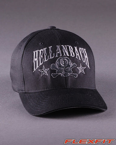 Image of Ballcaps - H6 Skull & Cossbones Logo On Solid Flexfit