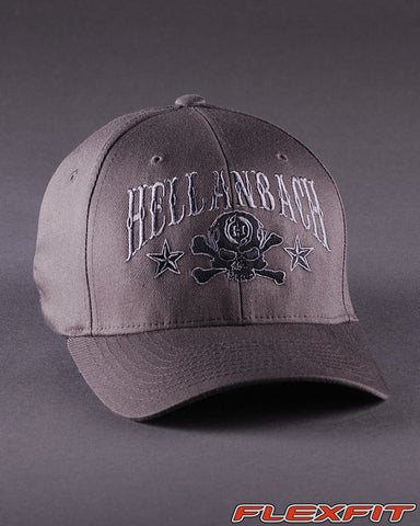 Ballcaps - H6 Skull & Cossbones Logo On Solid Flexfit