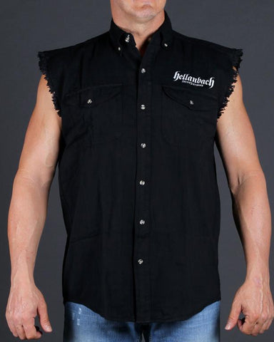 Image of Iron Skull Sleeveless Denim