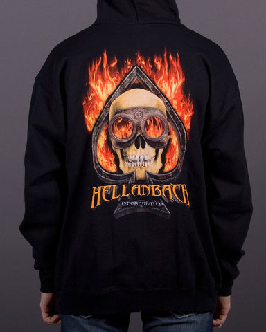 Image of Mens Hoodie - Burning Ace Hooded Pullover