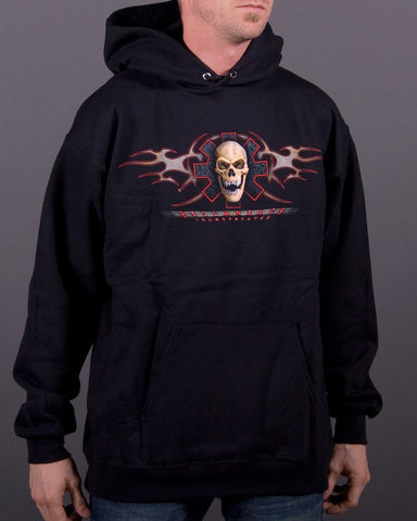 Mens Hoodie - Fear No Evil Hooded Pullover