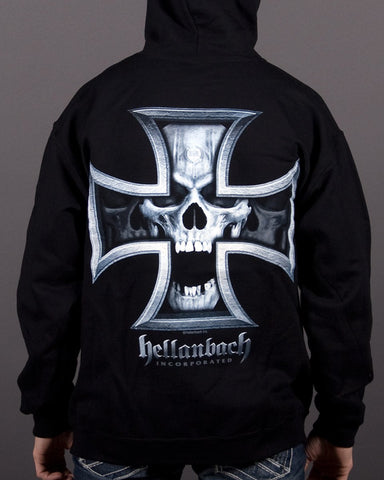 Image of Mens Hoodie - Iron Skull Hooded Pullover