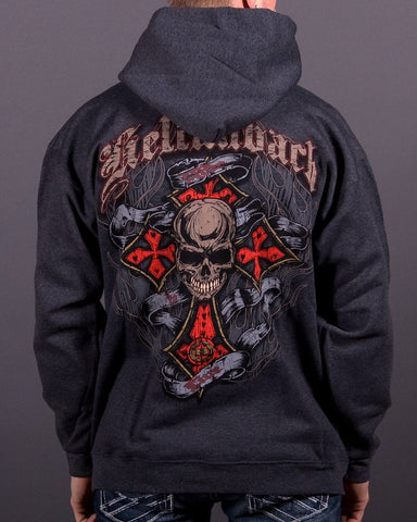 Mens Hoodie - Live To Ride Hooded Pullover
