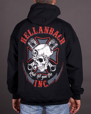 Mens Hoodie - Ride Till You Die Hooded Pullover