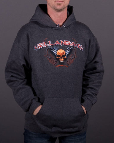 Image of Mens Hoodie - Skull & Pipes Hooded Pullover