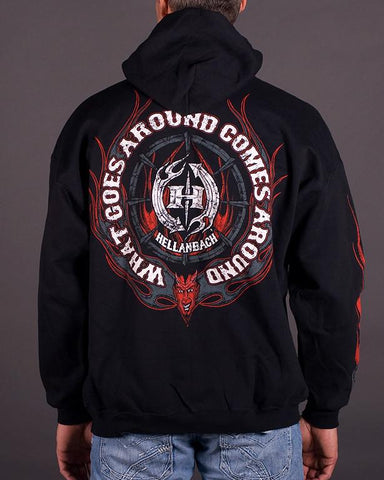 Mens Hoodie - What Goes Around Hooded Pullover