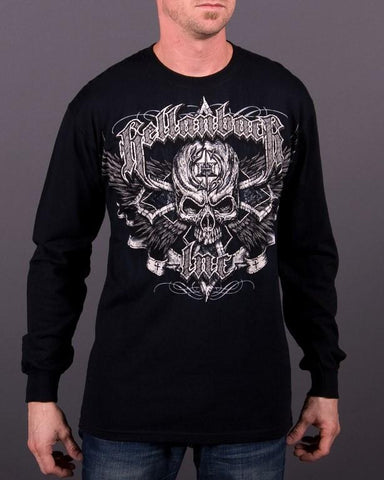Mens LS T-Shirt - Black Cross Long Sleeve