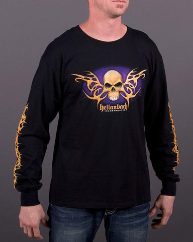 Mens LS T-Shirt - Bone Tribal Long Sleeve