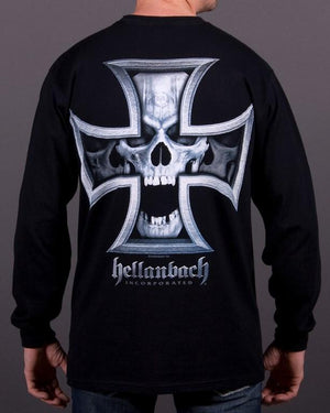 Mens LS T-Shirt - Iron Skull Long Sleeve