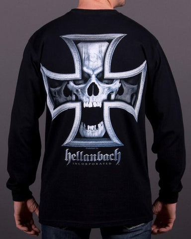 Image of Mens LS T-Shirt - Iron Skull Long Sleeve