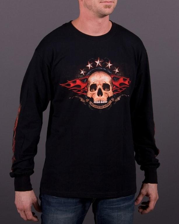 Mens LS T-Shirt - No Guts No Glory Long Sleeve