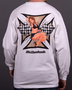 Mens LS T-Shirt - Pin Up Girl Long Sleeve