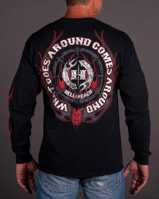 Mens LS T-Shirt - What Goes Around Long Sleeve