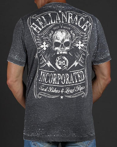 Image of Mens Premium T-Shirt - Fast Bikes & Loud Pipes Mineral Washed Premium Shirt
