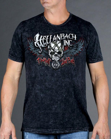 Image of Mens Premium T-Shirt - Hell And Back On Mineral Washed Premium Shirt