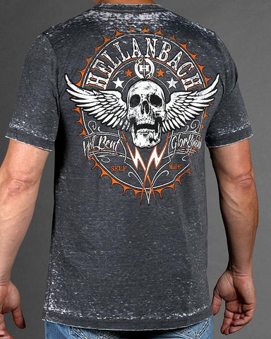 Image of Mens Premium T-Shirt - Hell Bent Mineral Washed Premium Shirt