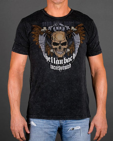 Image of Mens Premium T-Shirt - Reaper Mineral Washed Premium Shirt