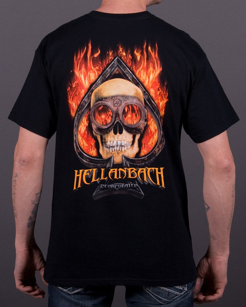 Mens T-Shirt - Burning Ace T-Shirt