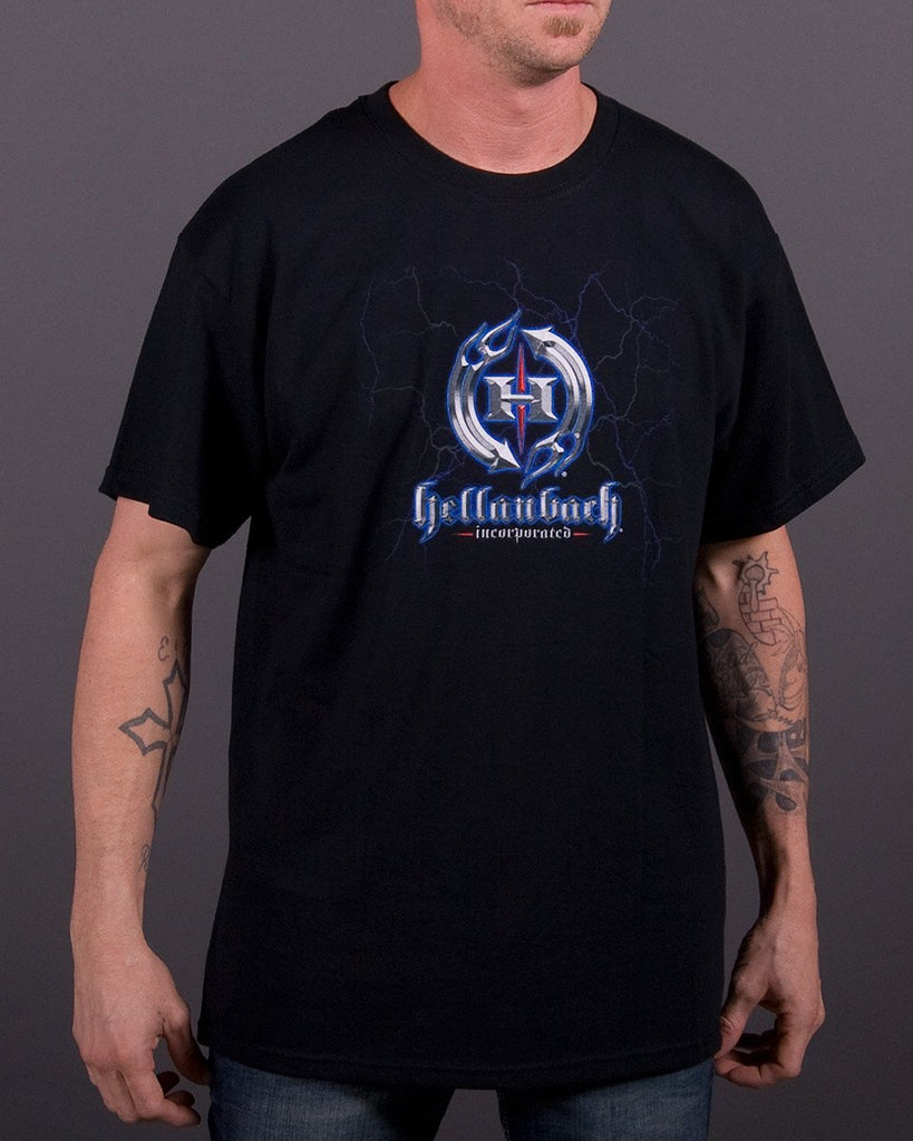 Mens T-Shirt - Hellanbach Lightning Logo T-Shirt