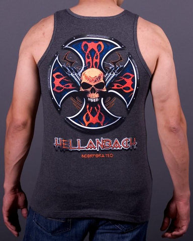 Mens Tank - Skull & Pipes Tank Top