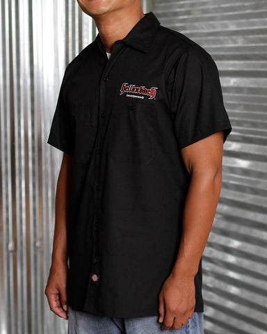 Mens Work Shirt - 3D Work Shirt - Black/Red