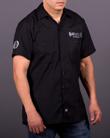 Mens Work Shirt - 3D Work Shirt - Black/Silver