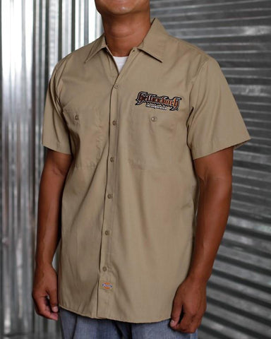 Image of Mens Work Shirt - 3D Work Shirt - Desert Sand/Bronze