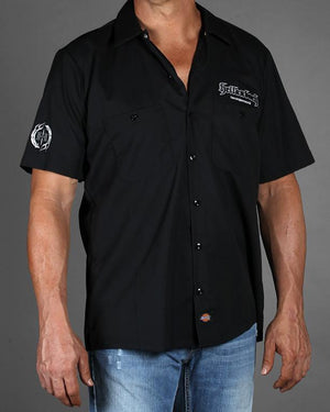 Black 4D Work Shirt w/Carbon Fiber Pattern